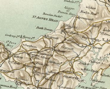 History of Redruth, in Kerrier and Cornwall | Map and