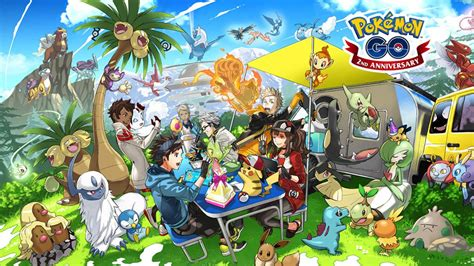 New Pokemon GO second anniversary art gives our first