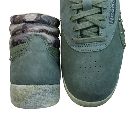 Reebok Freestyle F/S Womens Leather Hi Top Trainers