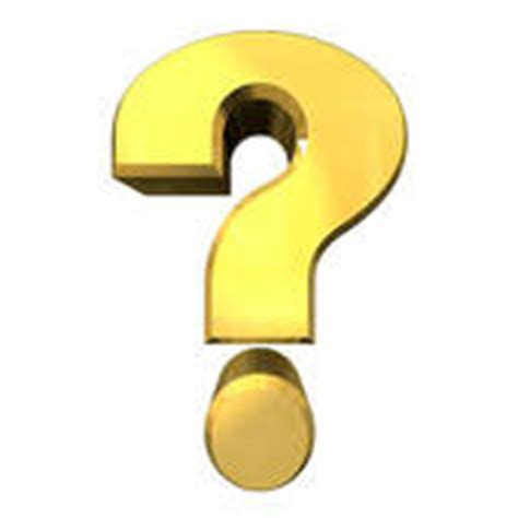 Clipart of question mark, help symbol in gold (3d