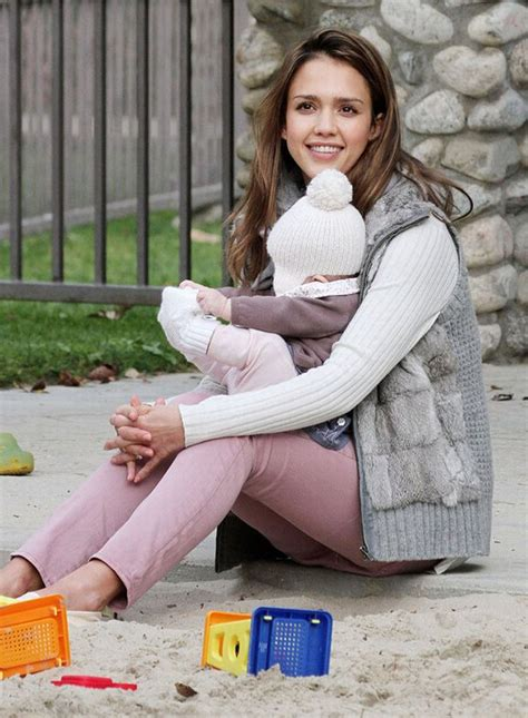 Jessica Alba takes Haven to the park for some bonding