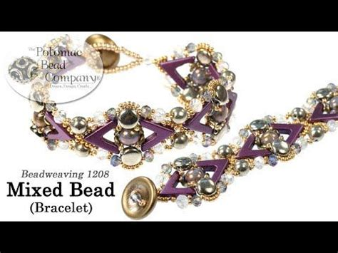 (2) Mixed Bead Bracelet - Tutorial for bead weaving with a