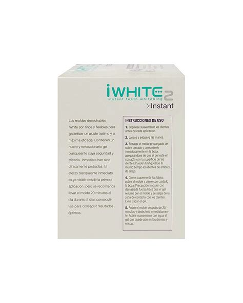 Iwhite Instant2 kit blanqueador 10 moldes