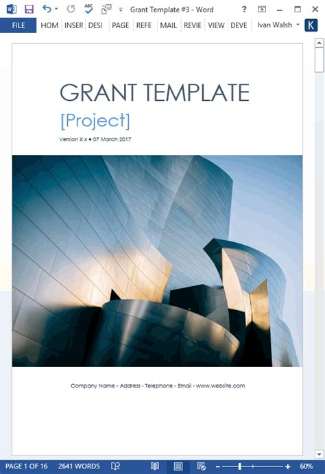 Grant Proposal Template (MS Word/Excel) – Templates, Forms