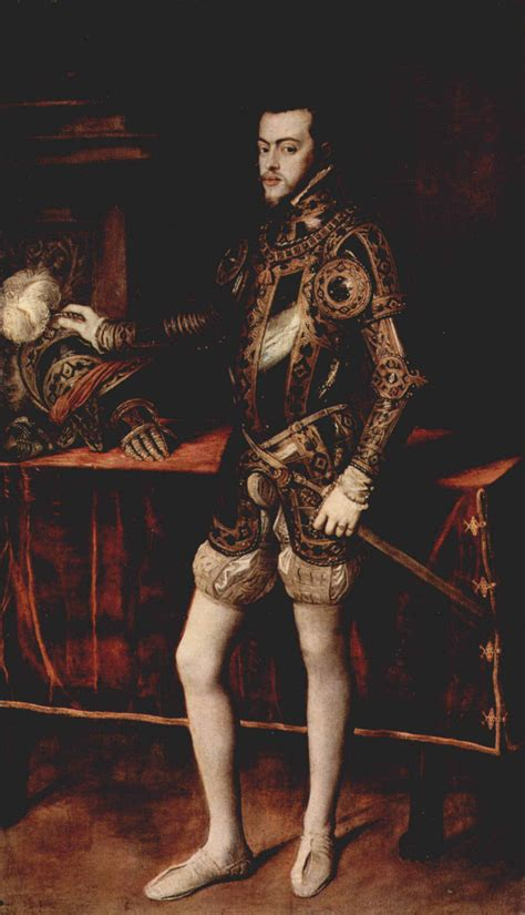 Philip II in Armour Titian Framed Wholesale China Oil