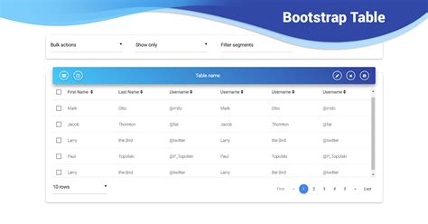 Bootstrap Table - examples & tutorial
