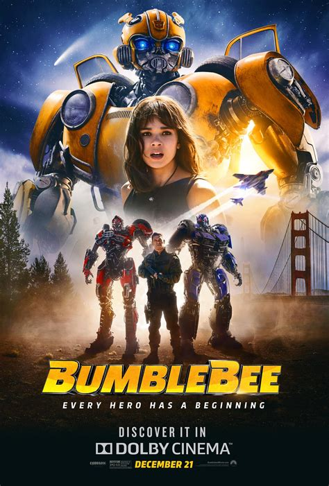 BUMBLEBEE Poster Pits Hailee Steinfeld & B-127 Against