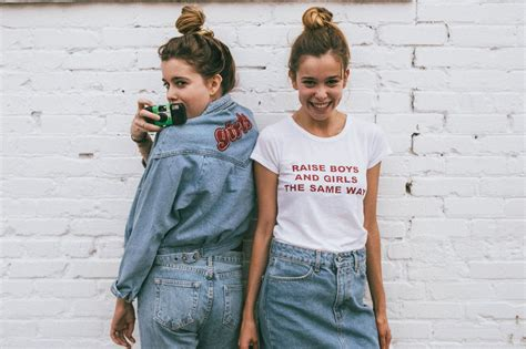 Twins model dynamic work bond for Brandy Melville   Daily