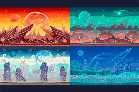 2D Planet Game Backgrounds - CraftPix