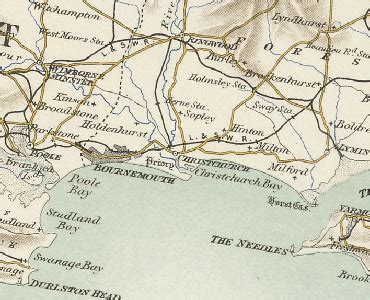 History of Christchurch in Hampshire | Map and description