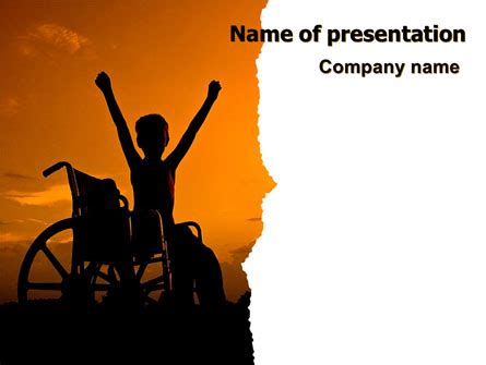 Disabled Children PowerPoint Template, Backgrounds | 06822