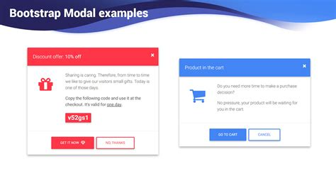 Bootstrap Modal examples & templates - Material Design for
