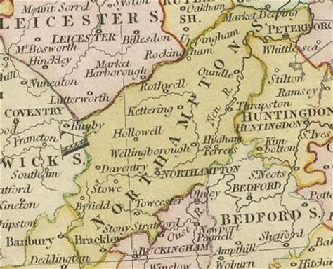 History of Northamptonshire | Map and description for the
