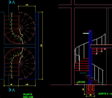 Spiral Staircase DWG Block for AutoCAD – Designs CAD