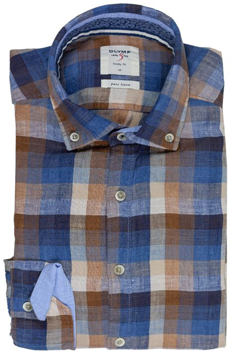 OLYMP Level Five Casual body fit Hemd Button-Down Leinen