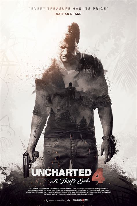 Uncharted 4: A Thief's End - Fan Poster on Behance