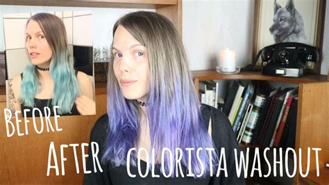 Colorista Washout: DO NOT USE #BLUEHAIR - YouTube