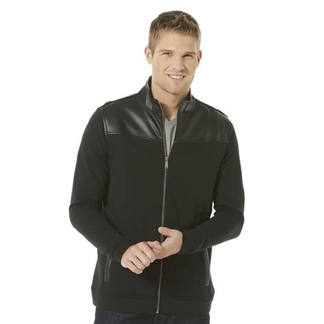 Structure Men's Knit Jacket Moto-Inspired Style Synthetic
