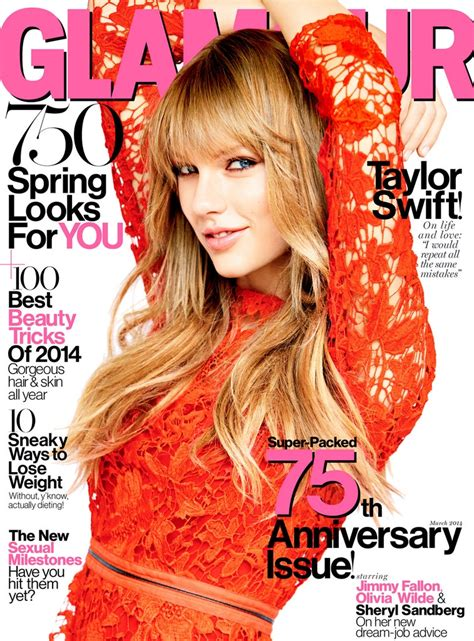 Taylor Swift's Glamour March 2014 Issue Cover Photos   Glamour