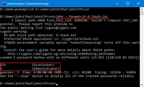 How to Crack Windows 10, 8 and 7 Password with John the