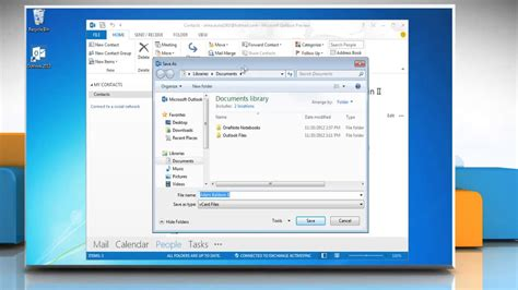 How to create a vCard in Microsoft® Outlook 2013 - YouTube