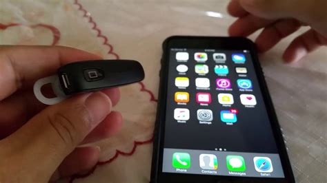 How to pair Handsfree bluetooth headset to Iphone 6 - YouTube