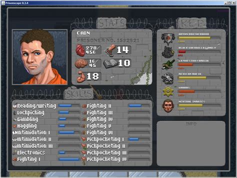 Character screen image - Prisonscape - Indie DB