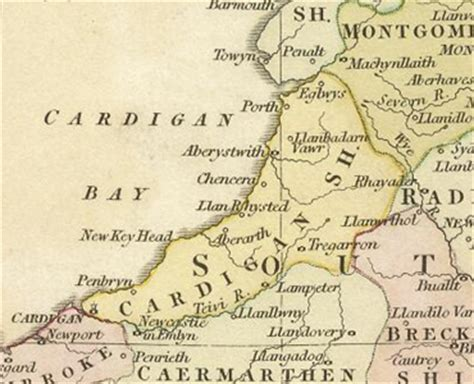 History of Cardiganshire | Map and description for the county