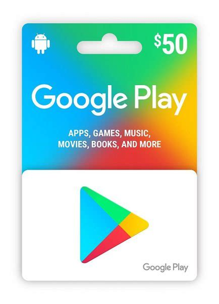20% off Google Play $50 Gift Card via Email $40