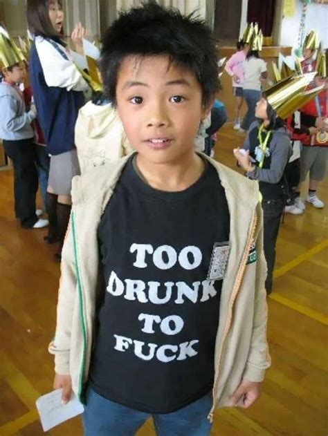 Asians Wearing English T-shirts Don't Have Any Idea Of