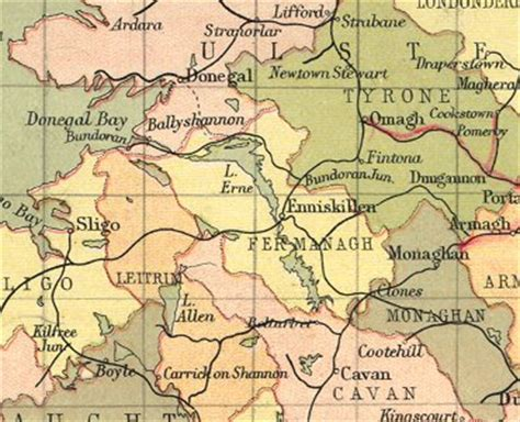 History of County Fermanagh | Map and description for the